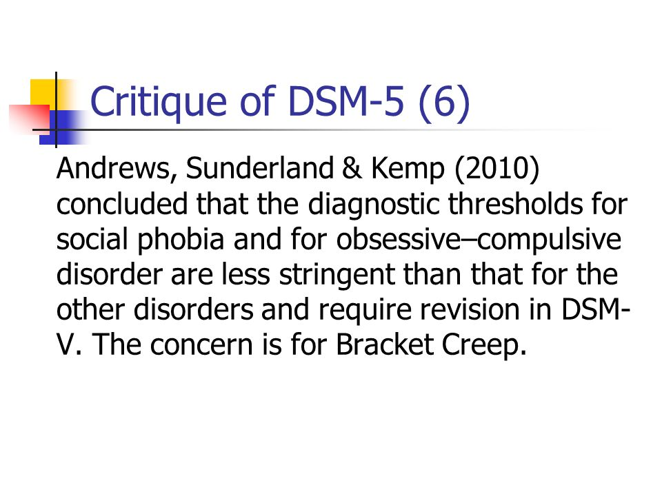 Critique of DSM-5 (6)