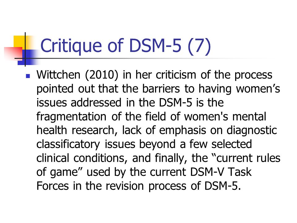 Critique of DSM-5 (7)