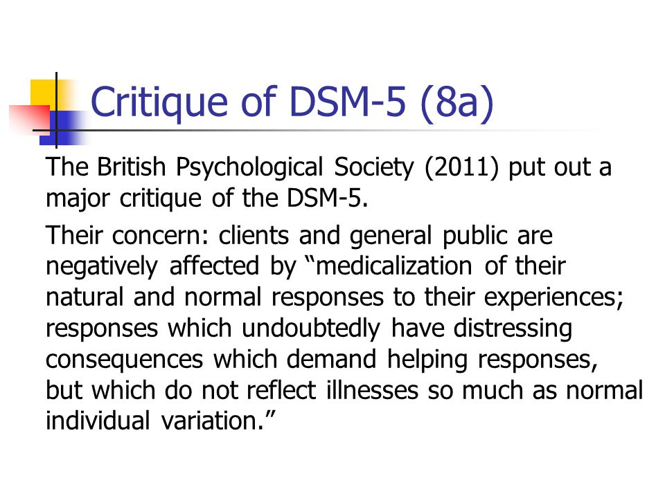Critique of DSM-5 (8a)