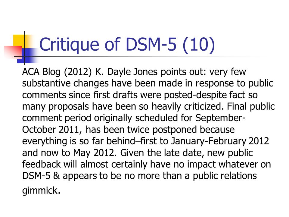 Critique of DSM-5 (10)