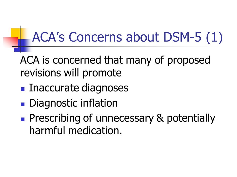ACA's Concerns about DSM-5 (1)