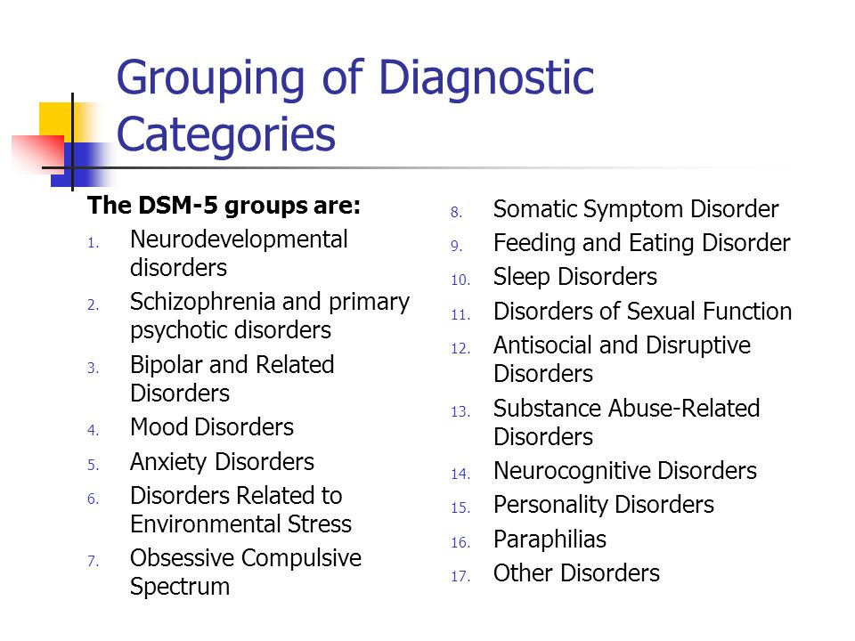 Grouping of Diagnostic Categories