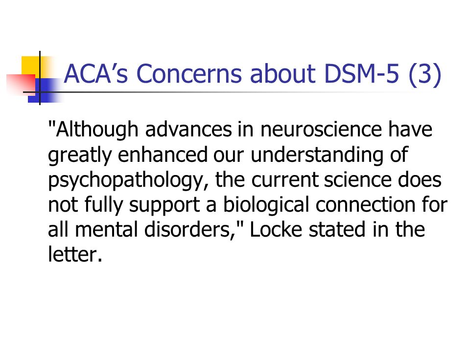 ACA's Concerns about DSM-5 (3)