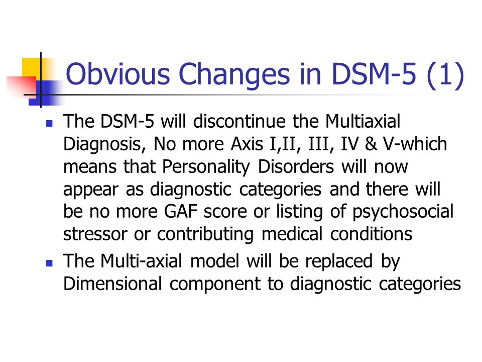 Obvious Changes in DSM-5 (1)