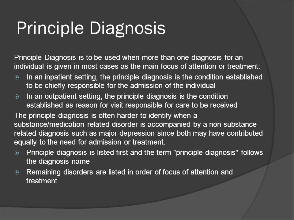 Principle Diagnosis
