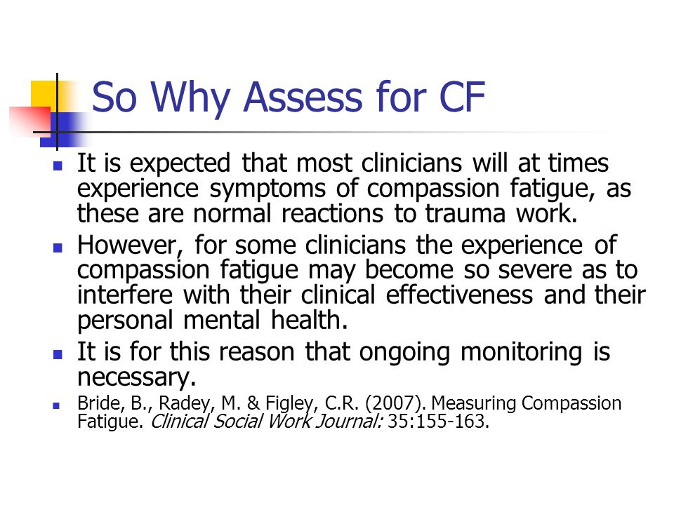 So Why Assess for CF
