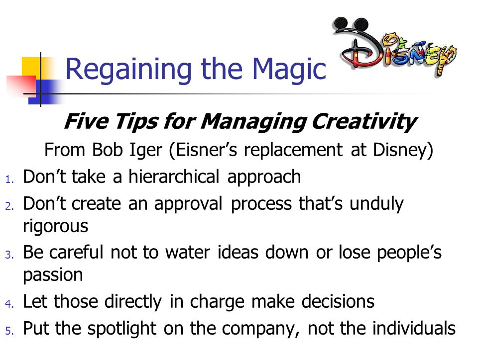Five Tips for Managing Creativity