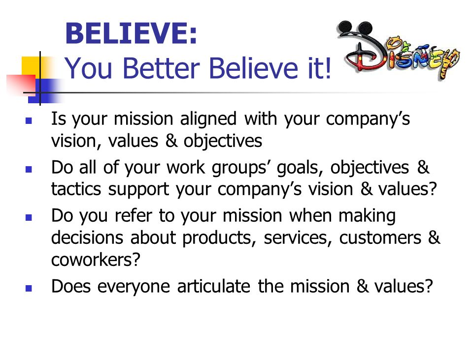 BELIEVE: You Better Believe it!