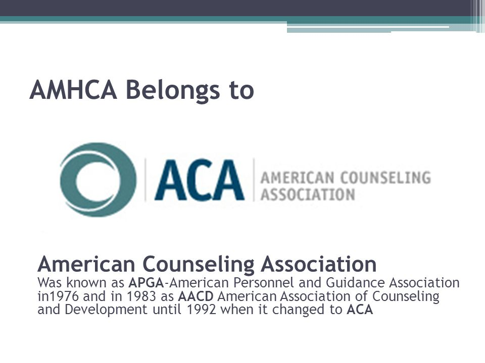AMHCA Belongs to American Counseling Association