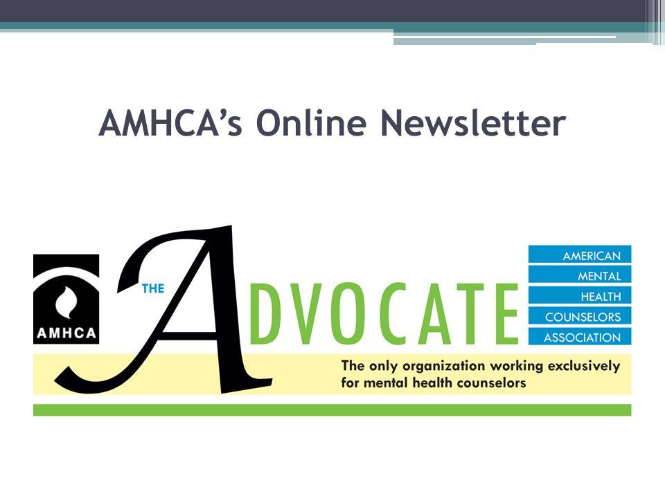 AMHCA's Online Newsletter