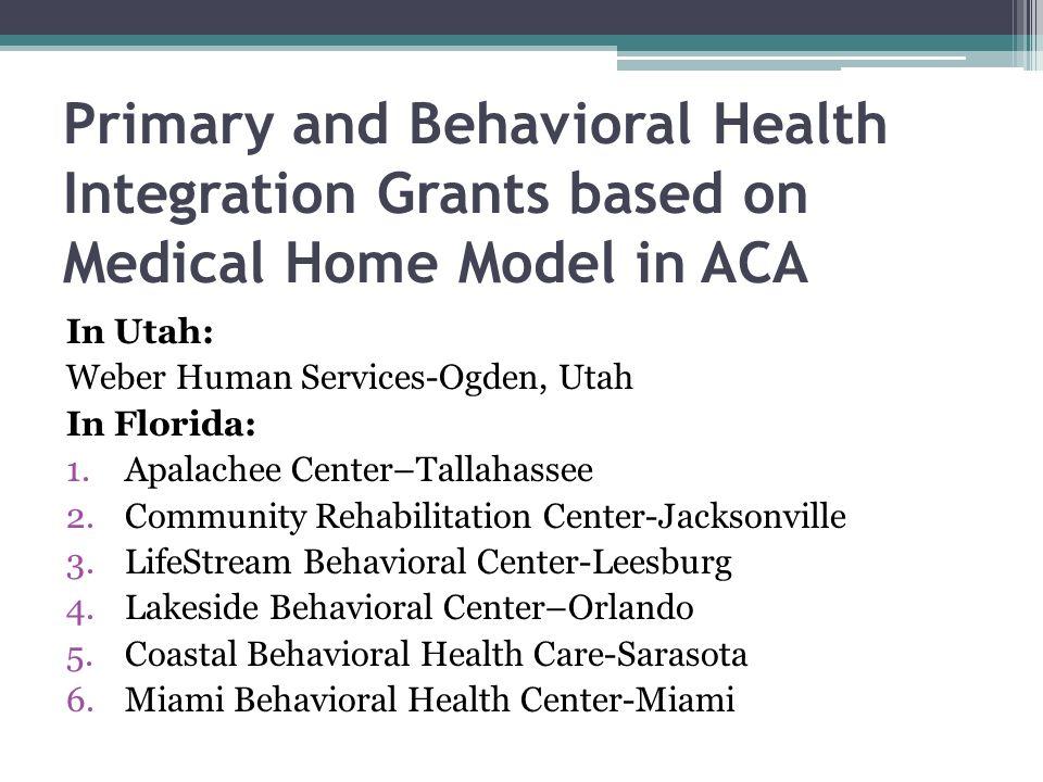 Medical home model aca