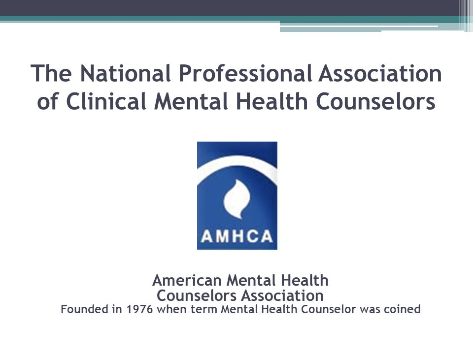 The National Professional Association of Clinical Mental Health Counselors