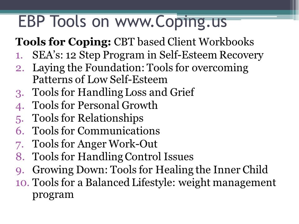 EBP Tools on www.Coping.us