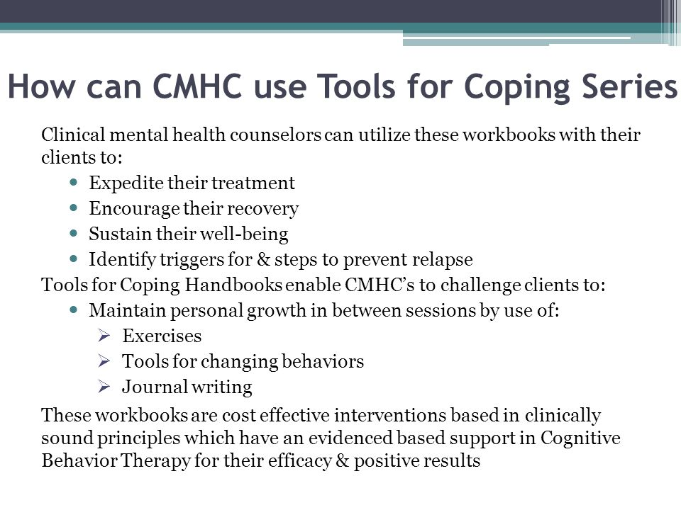 How can CMHC use Tools for Coping Series