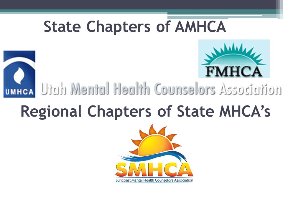 Regional Chapters of State MHCA's