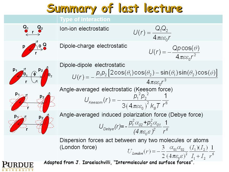 lecture 07 intermolecular forces Uci chem 1b general chemistry (winter 2013) lec 01 general chemistry intermolecular forces -- liquids & solids -- part 1 view the complete course: http.