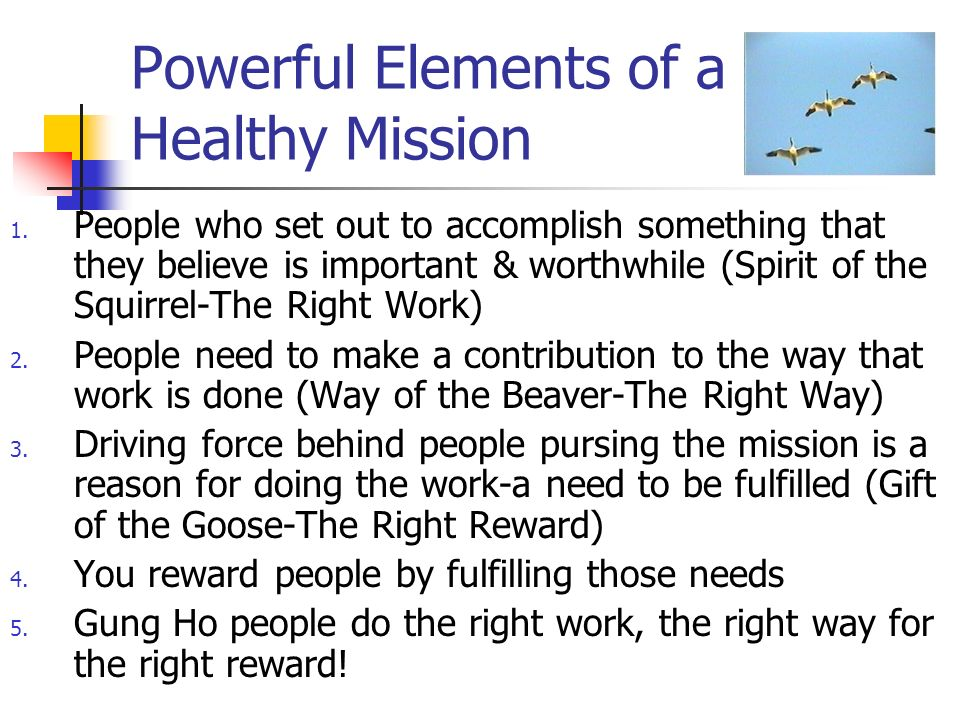 Powerful Elements of a Healthy Mission