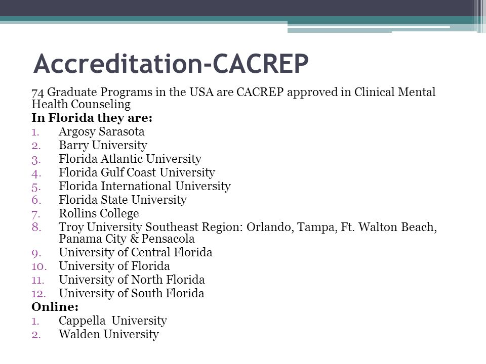 Accreditation-CACREP