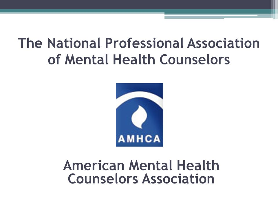 The National Professional Association of Mental Health Counselors