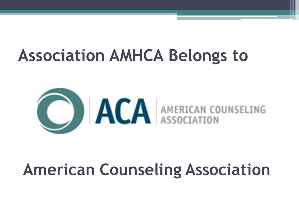 Association AMHCA Belongs to