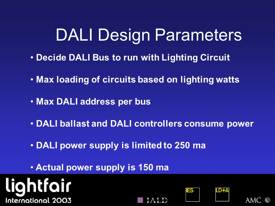 DALI Design Parameters