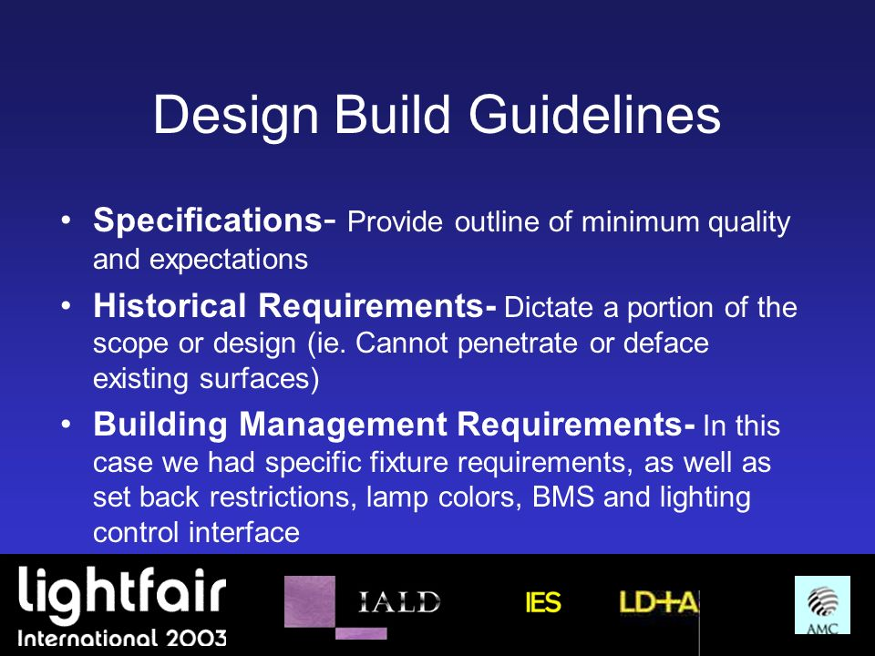 Design Build Guidelines
