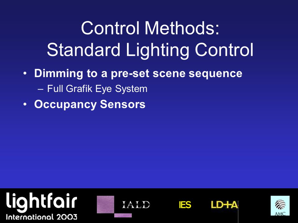 Control Methods: Standard Lighting Control