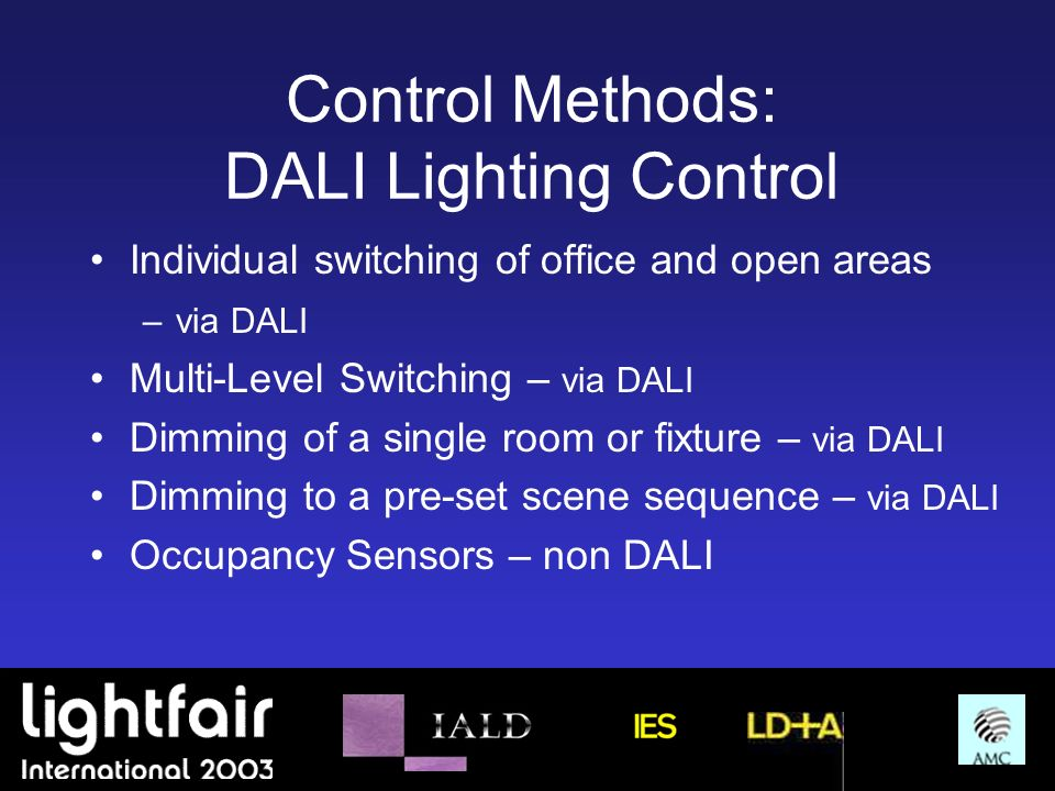 Control Methods: DALI Lighting Control