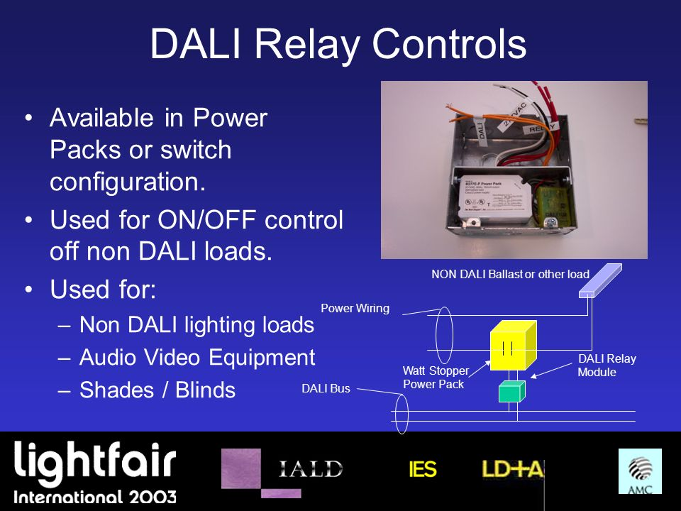 DALI Relay Controls Available in Power Packs or switch configuration.