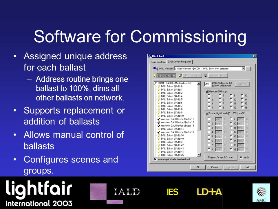 Software for Commissioning