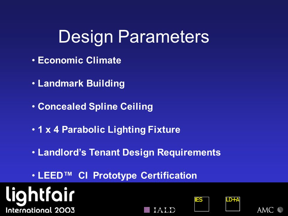 Design Parameters Economic Climate Landmark Building