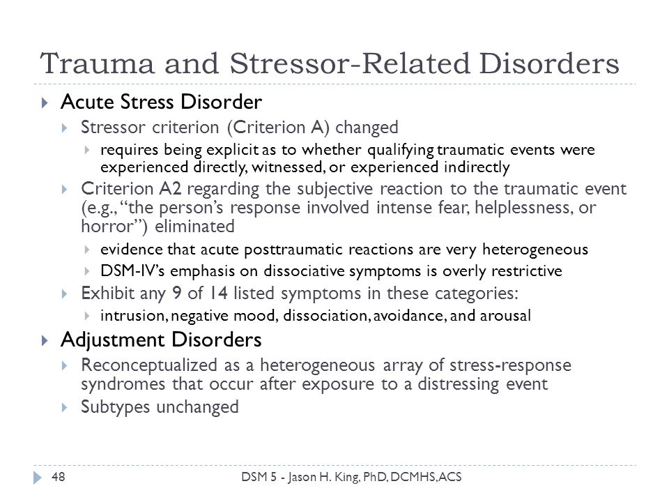 acute stress disorder rehabilitation Acute stress disorder & posttraumatic stress disorder australian guidelines for the treatment of guidelines summary the guidelines are endorsed by.