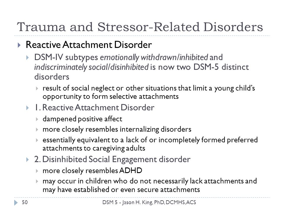 Trauma and Stressor-Related Disorders
