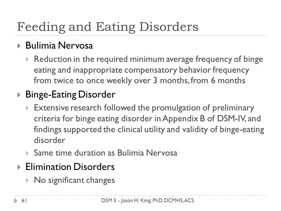 Feeding and Eating Disorders