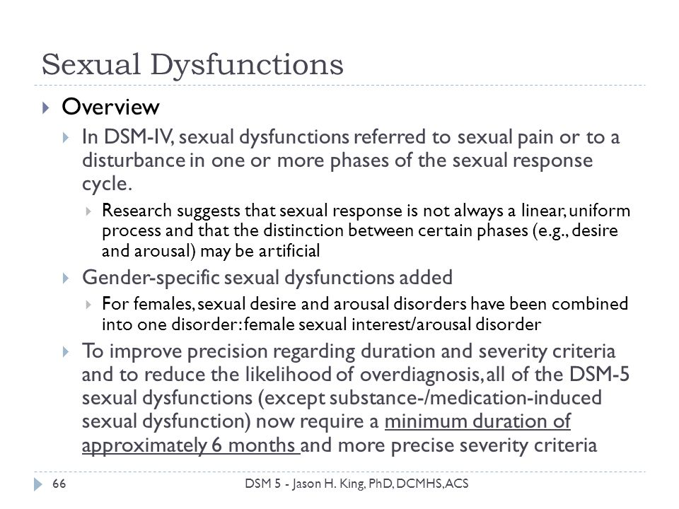 Sexual Dysfunctions Overview