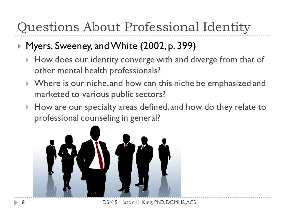 Questions About Professional Identity