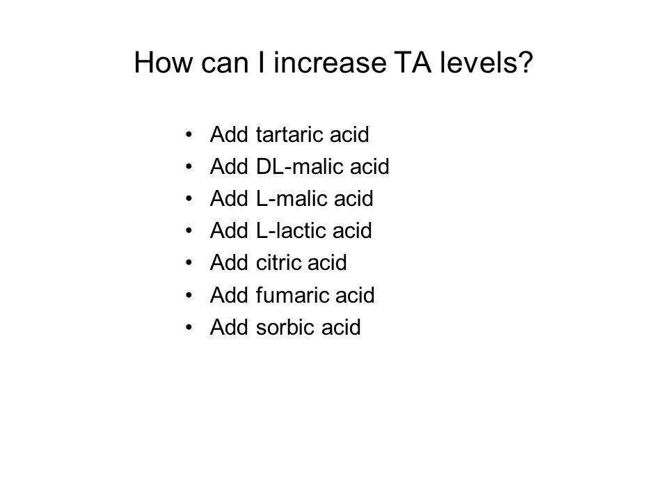 How can I increase TA levels