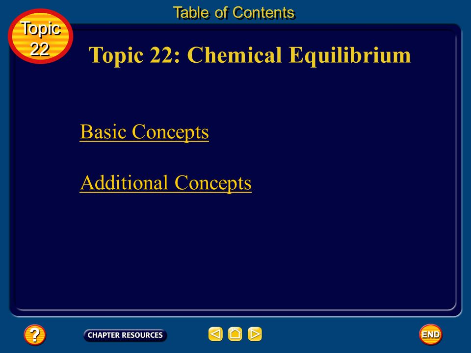 Topic 22: Chemical Equilibrium