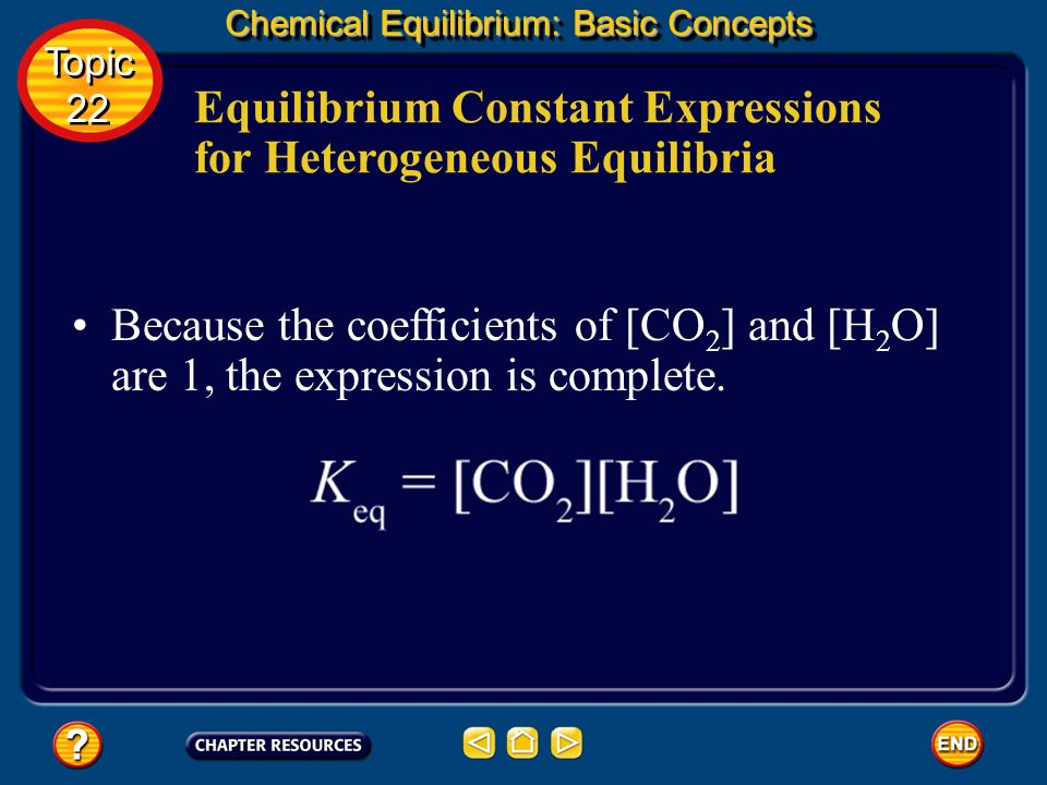 Equilibrium Constant Expressions for Heterogeneous Equilibria
