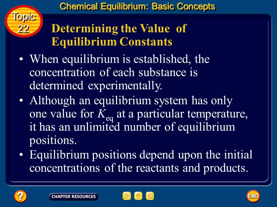 Determining the Value of Equilibrium Constants