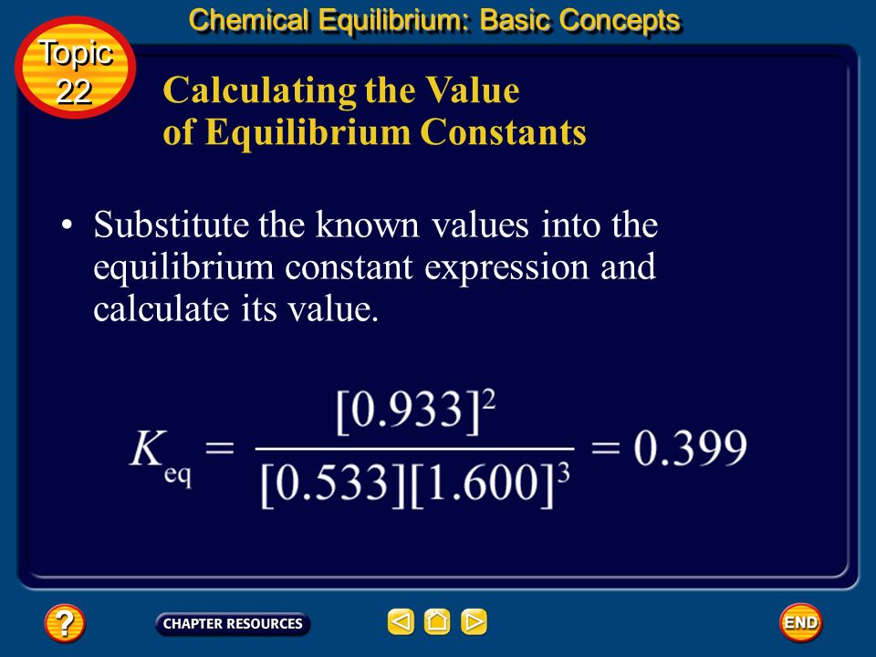 Calculating the Value of Equilibrium Constants