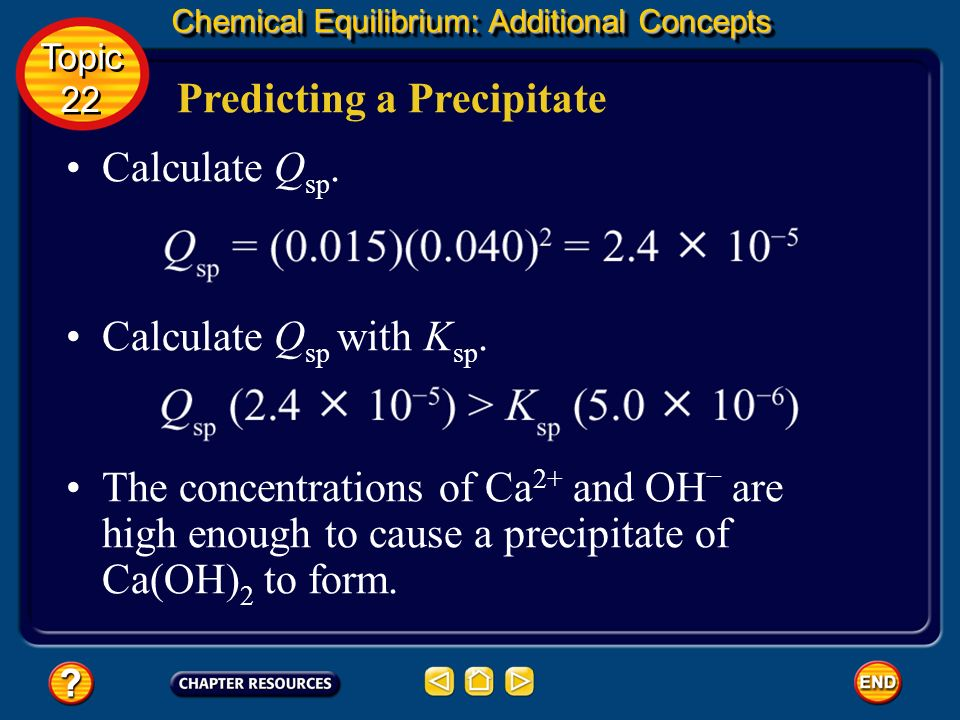 Predicting a Precipitate