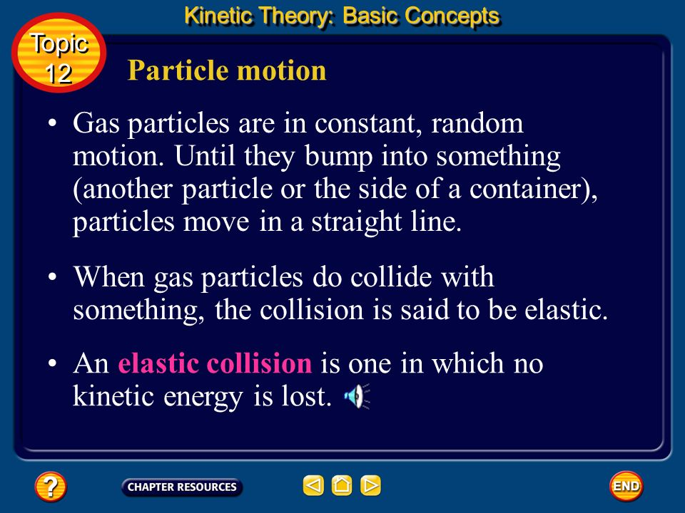 An elastic collision is one in which no kinetic energy is lost.