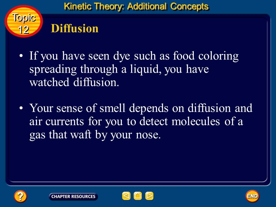 Kinetic Theory: Additional Concepts