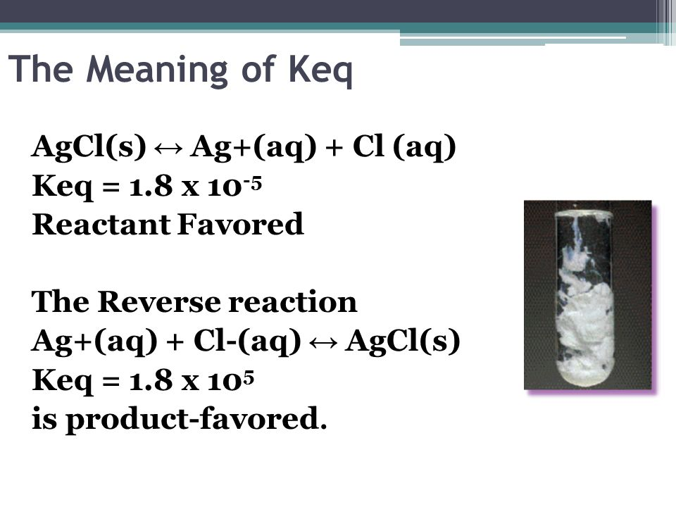 The Meaning of Keq
