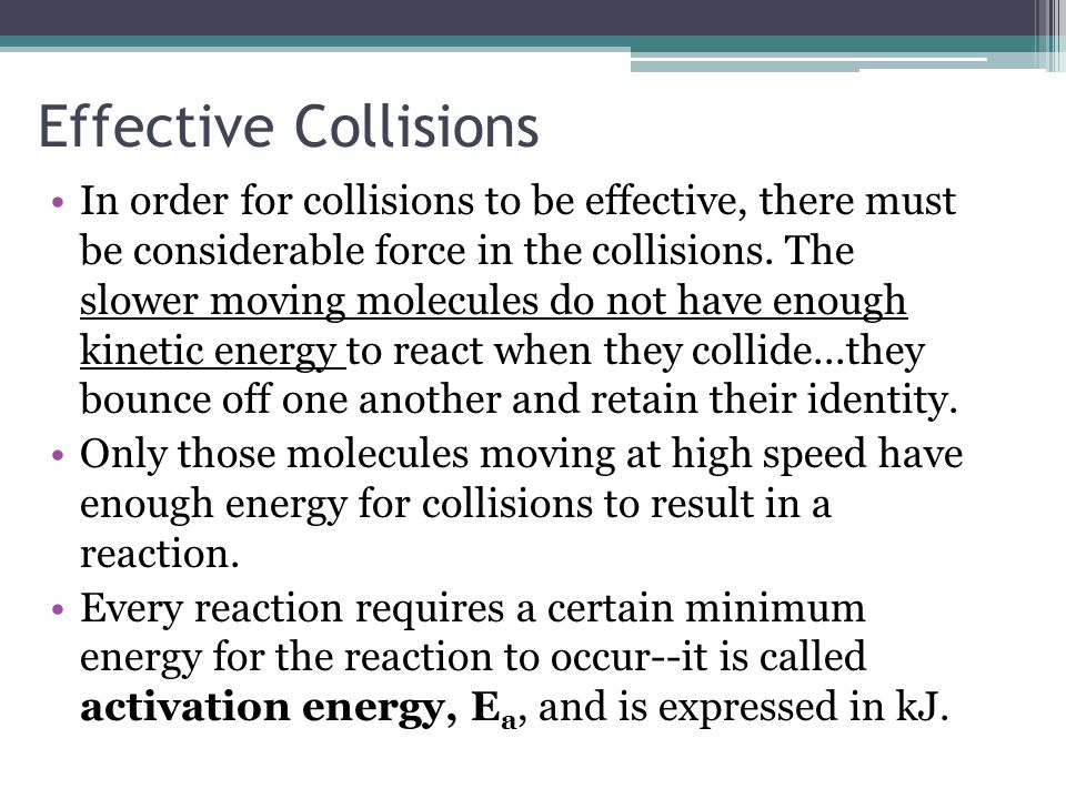 Effective Collisions