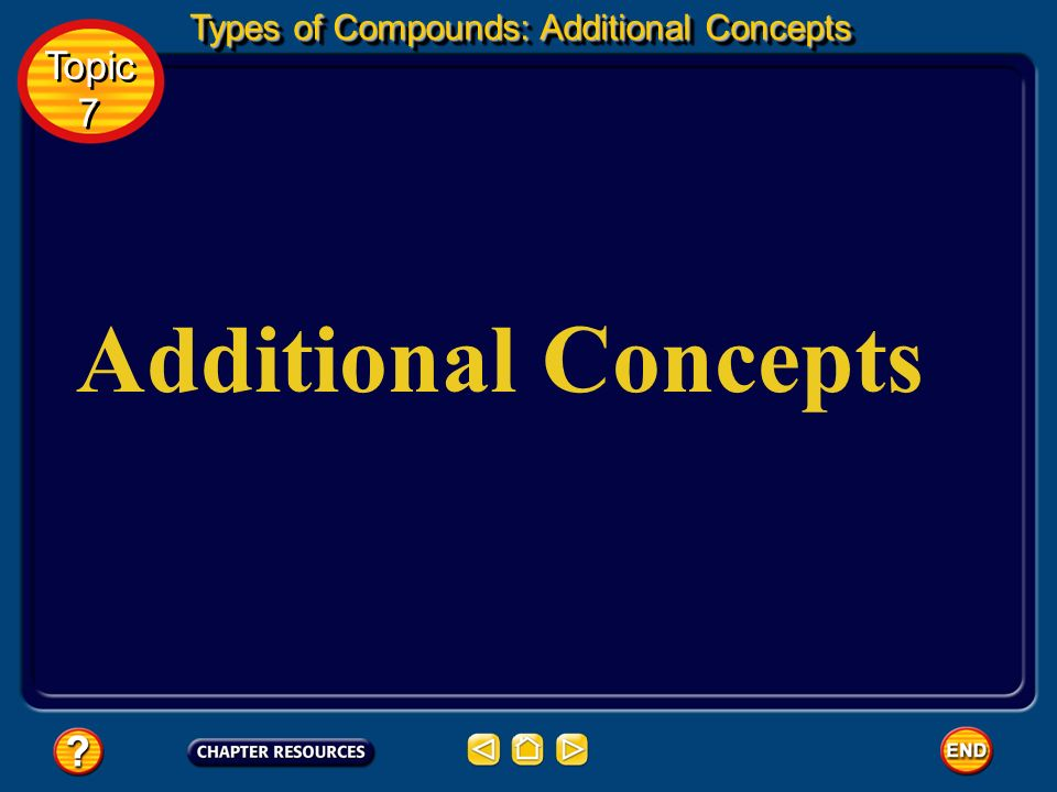 Types of Compounds: Additional Concepts