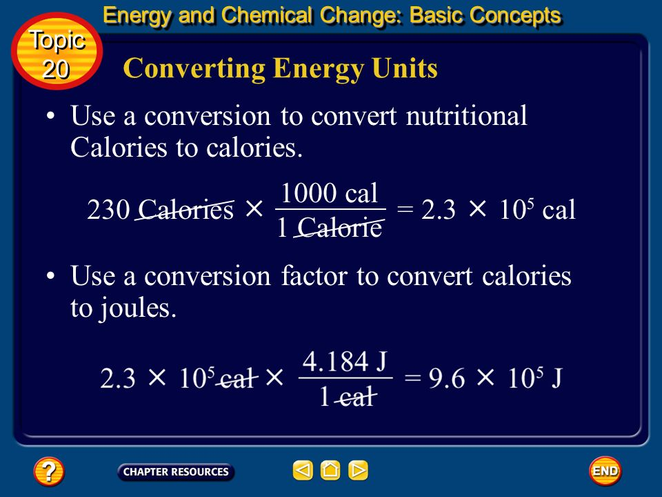 Converting Energy Units