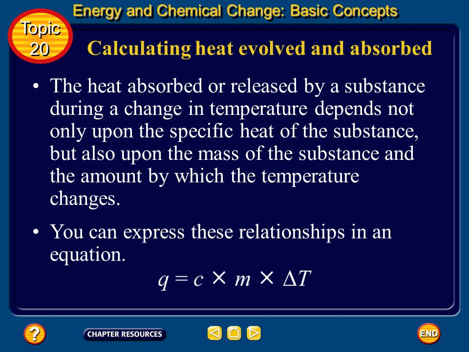 Calculating heat evolved and absorbed