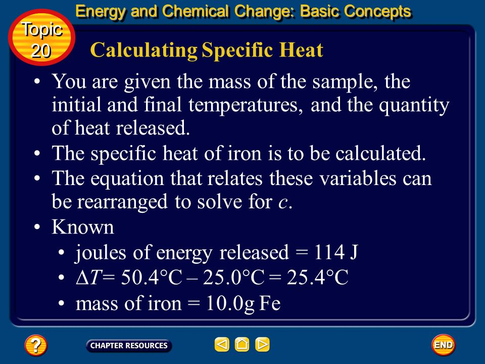 Calculating Specific Heat